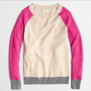 J. Crew colorblock wool waffle texture sweater